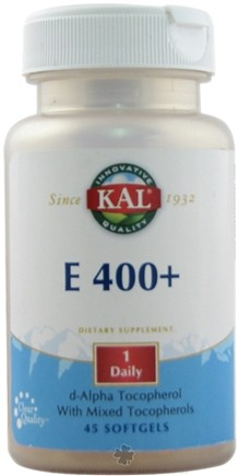 DROPPED: Kal - E-400+ with Mixed Tocopherols - 45 Softgels