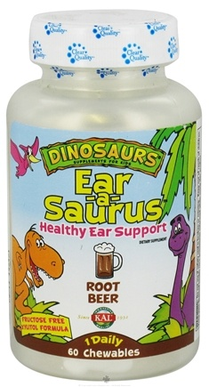DROPPED: Kal - Dinosaurs Ear-A-Sarus for Kids Root Beer - 60 Chewables CLEARANCE PRICED