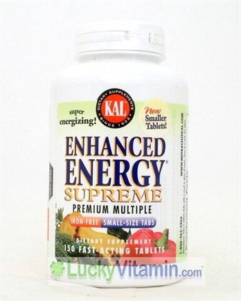 DROPPED: Kal - Enhanced Energy Supreme Premium Multiple Iron Free - 150 Tablets