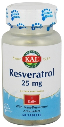DROPPED: Kal - Resveratrol 25 mg. - 60 Tablets CLEARANCE PRICED
