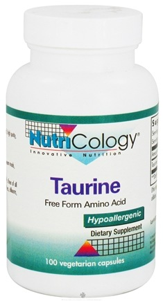 DROPPED: Nutricology - Taurine 500 mg. - 100 Vegetarian Capsules CLEARANCE PRICED