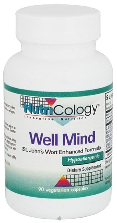 DROPPED: Nutricology - Well Mind - 90 Vegetarian Capsules CLEARANCE PRICED