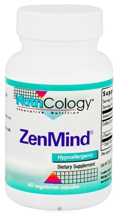 DROPPED: Nutricology - ZenMind - 60 Capsules CLEARANCE PRICED