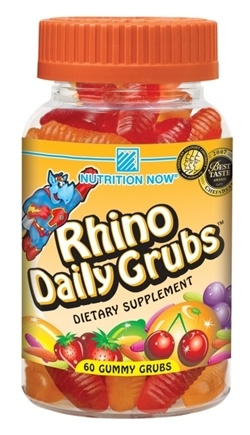 DROPPED: Nutrition Now - Rhino Daily Grubs Assorted Fruit Flavors - 60 Gummies