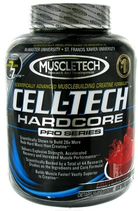 DROPPED: Muscletech Products - Cell-Tech Hardcore Pro Series Fruit Punch - 6.6 lbs. CLEARANCE PRICED