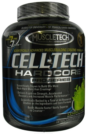 DROPPED: Muscletech Products - Cell-Tech Hardcore Pro Series Lemon-Lime - 6.6 lbs. CLEARANCE PRICED