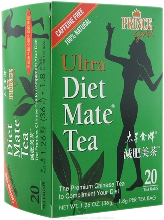 DROPPED: Prince of Peace - Ultra Diet Mate Tea 100% Natural Caffeine Free - 20 Tea Bags