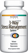 DROPPED: Rainbow Light - 3-Way Stress Management System - 30 Tablets