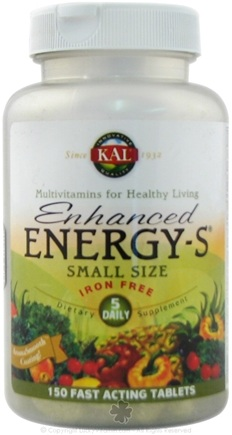 DROPPED: Kal - Enhanced Energy-S - Full Spectrum Multiple Iron Free - Small Sized Tabs - 150 Tablets