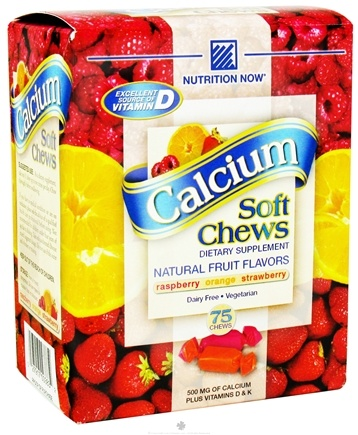 DROPPED: Nutrition Now - Calcium Soft Chew Fruit - 75 Chew(s)