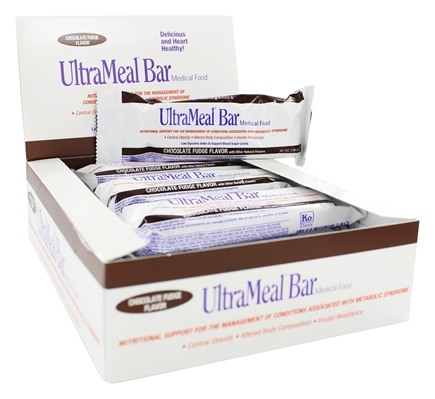 Metagenics - UltraMeal Bar Medical Food Chocolate Fudge - 12 Bars