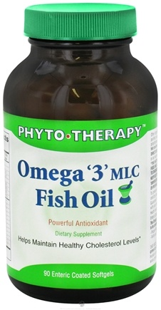 DROPPED: Phyto Therapy - Omega 3 MLC Fish Oil - 90 Softgels CLEARANCE PRICED