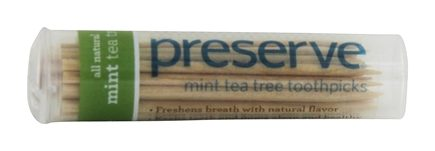 Preserve - Tea Tree Toothpicks Mint - 35 Pick(s)