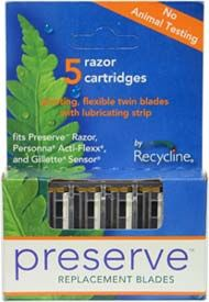 DROPPED: Preserve - Razor Blade Replacement 5 Blades