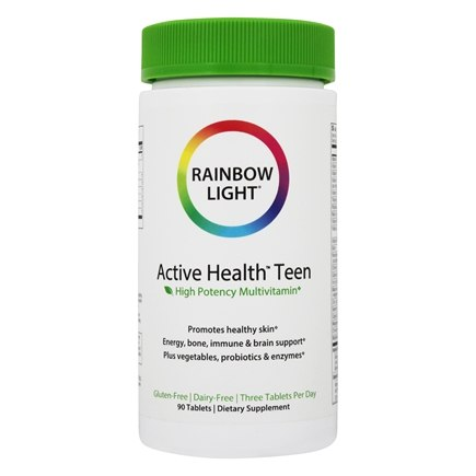 Rainbow Light - Active Health Teen Multivitamin - 90 Tablets