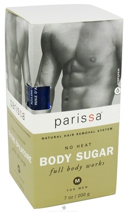 DROPPED: Parissa - Mens No Heat Body Sugar - 7 oz. SPECIALLY PRICED