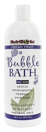 DROPPED: Nutribiotic - Bubble Bath with Aloe Vera and GSE Fresh Fruit Scent - 16 oz.