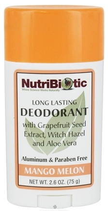 DROPPED: Nutribiotic - Long Lasting Deodorant Mango Melon Scent - 2.6 oz. CLEARANCE PRICED
