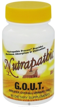 DROPPED: Nutrapathic - G.O.U.T. Greater Overall Urinary Tract - 90 Tablets