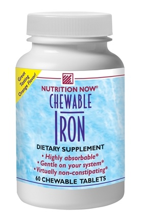 DROPPED: Nutrition Now - Chewable Iron - 60 Chewable Tablets