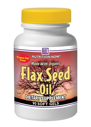 DROPPED: Nutrition Now - Flax Seed Oil - 90 Softgels