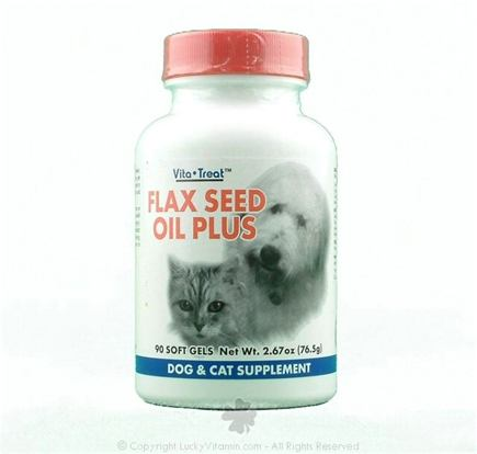 DROPPED: Nutrition Now - Flax Seed Oil Plus Dog & Cat Supplement - 90 Softgels