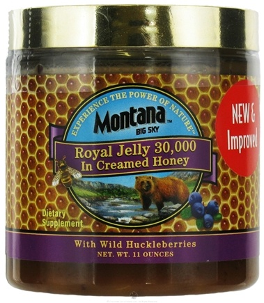 DROPPED: Montana Naturals - Royal Jelly in Creamed Honey with Wild Huckleberries 30000 IU - 11 oz.