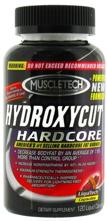 DROPPED: Muscletech Products - Hydroxycut Hardcore - 120 Capsules