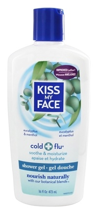 Kiss My Face - Bath & Shower Gel Cold & Flu Eucalyptus & Menthol - 16 oz.