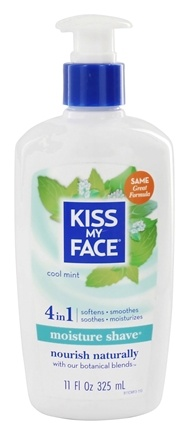 Kiss My Face - Moisture Shave Cool Mint - 11 oz.