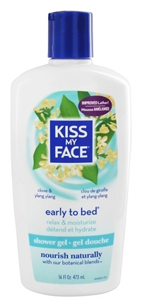 Kiss My Face - Bath & Shower Gel Calming Early To Bed Clove & Ylang Ylang - 16 oz.
