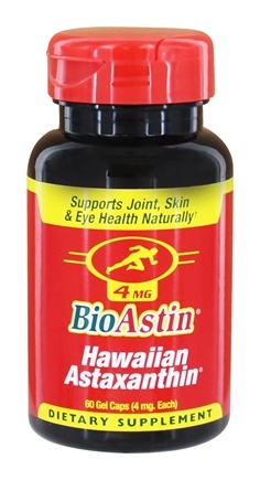 Nutrex Hawaii - BioAstin Natural Astaxanthin 4 mg. - 60 Gelcaps
