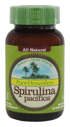 Nutrex Hawaii - Pure Hawaiian Spirulina Pacifica Powder 500 mg. - 200 Tablets (formerly Spirulina Tabs)
