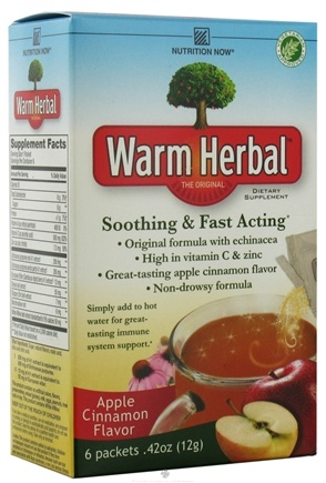 DROPPED: Nutrition Now - Warm Herbal Apple Cinnamon Flavor - 6 Packet(s)