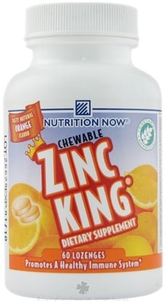 DROPPED: Nutrition Now - Zinc King Orange - 60 Lozenges