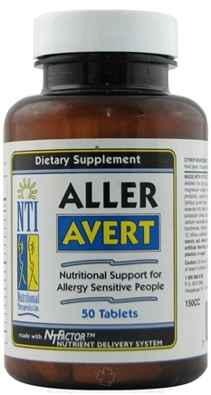 DROPPED: Nutritional Therapeutics - Aller Avert - 50 Tablets