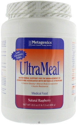 DROPPED: Metagenics - UltraMeal Medical Food Raspberry - 22 oz. CLEARANCE PRICED