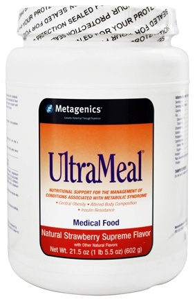 Metagenics - UltraMeal Medical Food Strawberry Supreme - 21.5 oz.