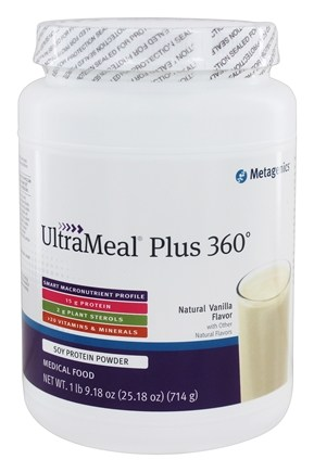 Metagenics - UltraMeal Plus 360 Medical Food Natural Vanilla Flavor - 25.5 oz.
