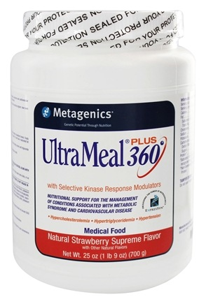 Metagenics - UltraMeal Plus 360 Medical Food Strawberry Supreme - 25 oz.