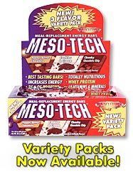 DROPPED: Muscletech Products - Meso-Tech Meal-Replacement Energy Bar Chunky Chocolate Chip - 12 Bars