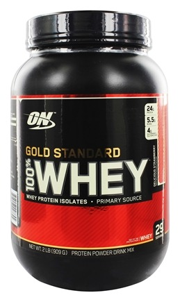 Optimum Nutrition - 100% Whey Gold Standard Protein Delicious Strawberry - 2 lbs.