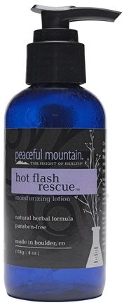 DROPPED: Peaceful Mountain - Hot Flash Rescue Moisturizing Lotion - 4 oz.