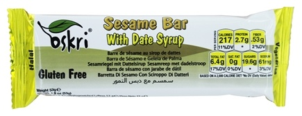 Oskri - Sesame Bar with Date Syrup Gluten-Free - 1.9 oz.