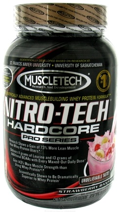 DROPPED: Muscletech Products - Nitro-Tech Hardcore Pro Series Strawberry Banana - 2 lbs. CLEARANCE PRICED
