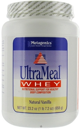 DROPPED: Metagenics - UltraMeal Whey Natural Vanilla - 23.2 oz. CLEARANCE PRICED