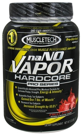 DROPPED: Muscletech Products - naNO Vapor Hardcore Pro Series Fruit Punch - 2 lbs. CLEARANCE PRICED
