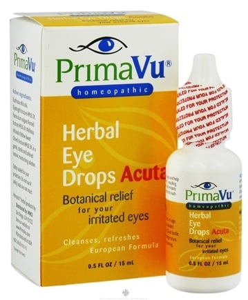DROPPED: PrimaVu - Herbal Eye Drops Acuta - 0.5 oz. CLEARANCE PRICED