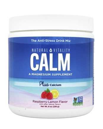Natural Vitality - Natural Calm Plus Calcium Raspberry-Lemon Flavor - 8 oz.