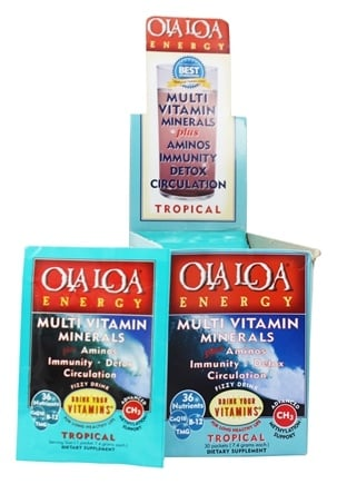 Ola Loa - Energy Super Multi-Vitamin Effervescent Tropical - 30 x 7g Packets